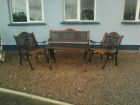 Garden furniture.<br />All the chairs and able have been repainted and restored to look as good as new.
