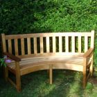 Solid Oak Curved Bench